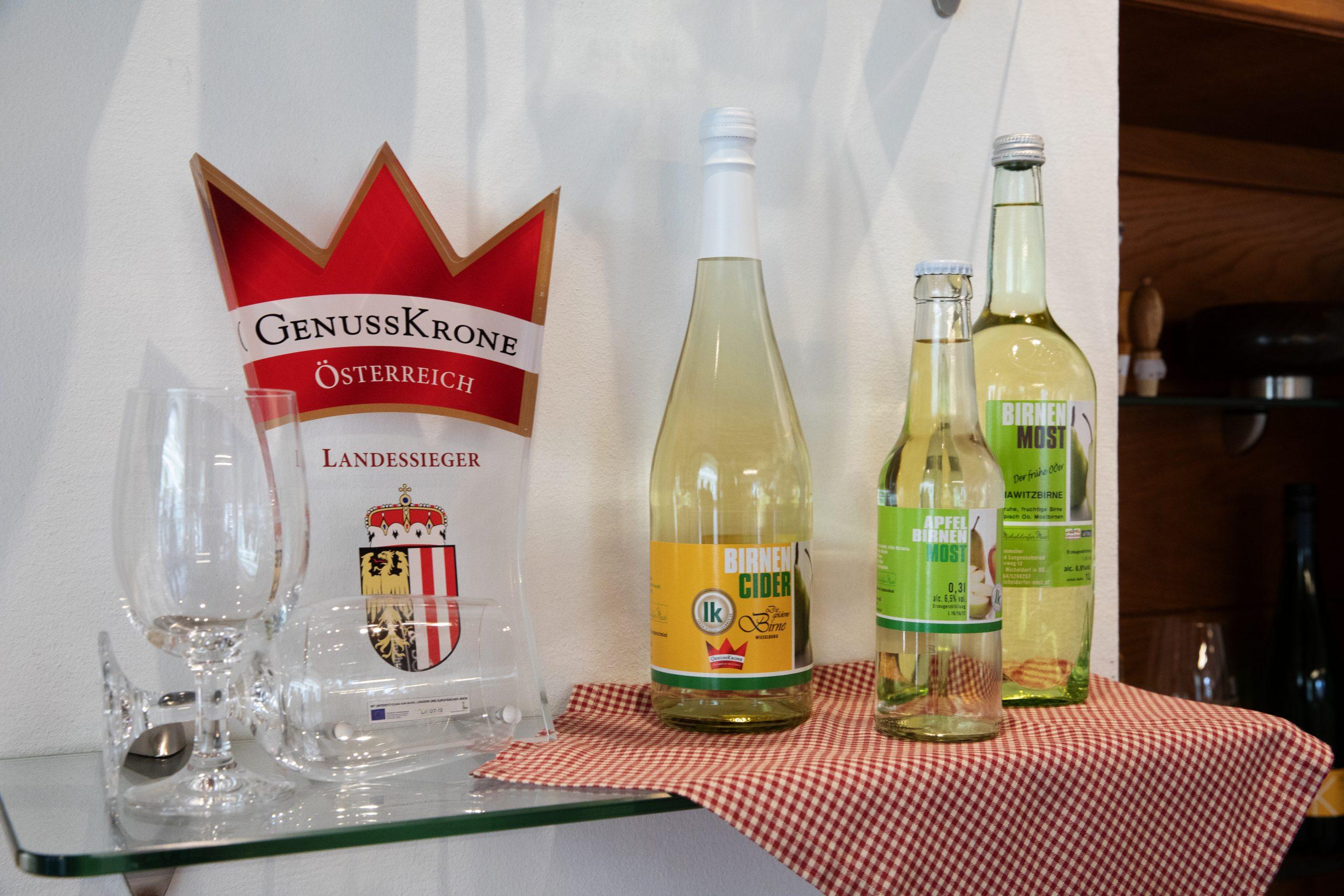 Birnen Cider und Birnen Most